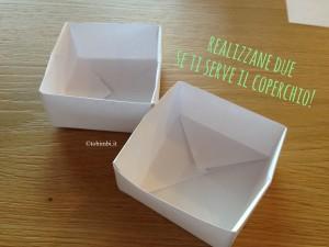istruzioni scatola origami quadrata